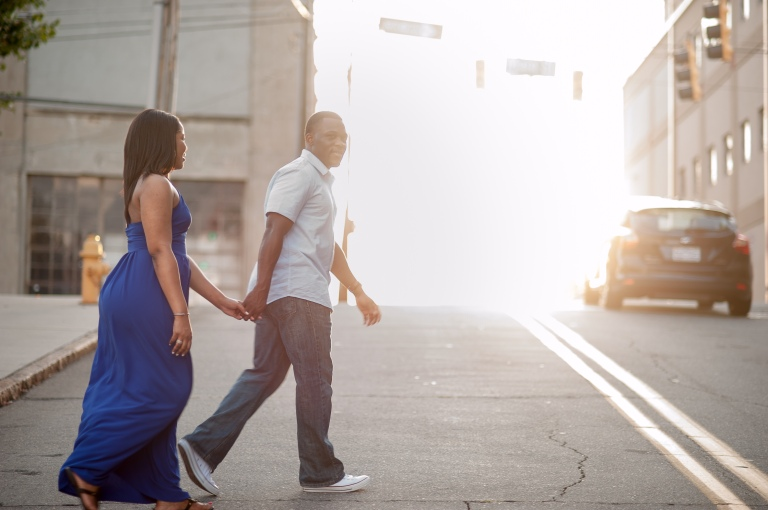 Maria and Jabar Downtown Winston Salem Engagement Photography-101