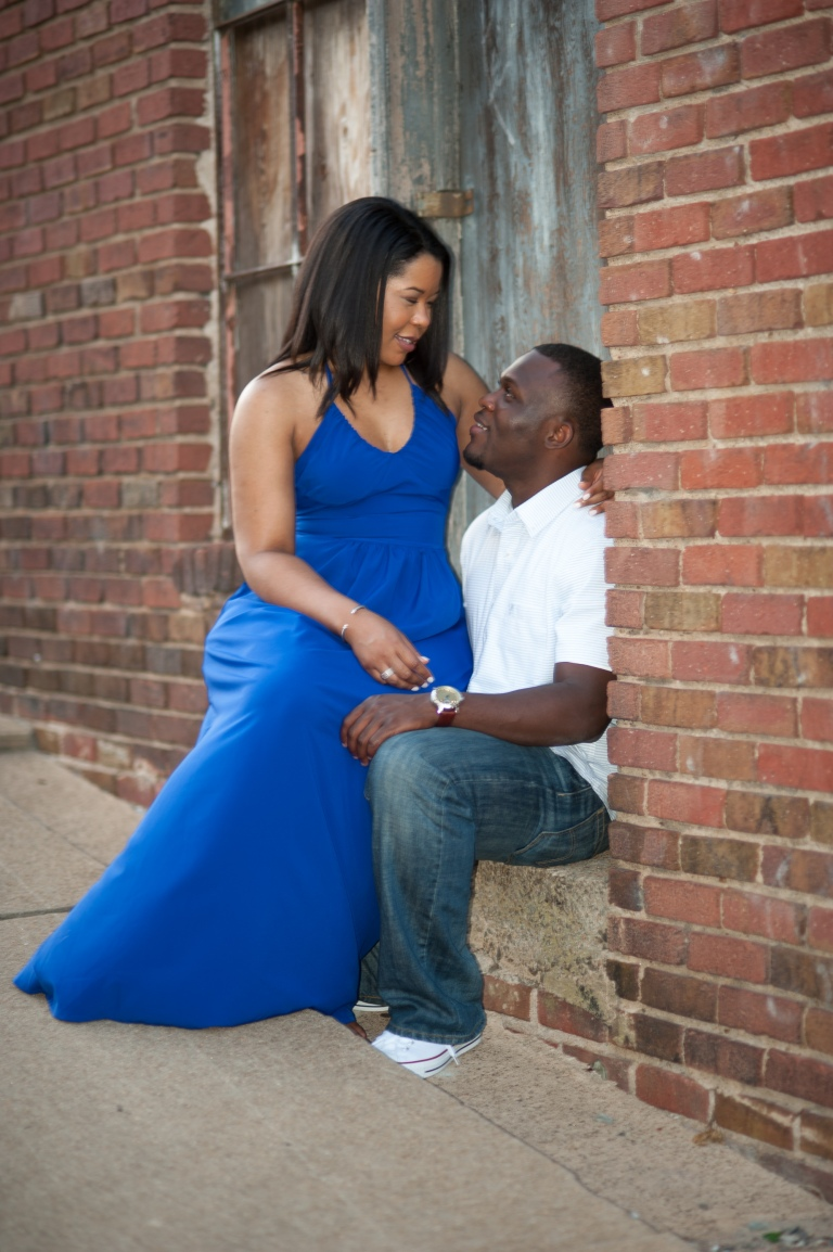 Maria and Jabar Downtown Winston Salem Engagement Photography-105