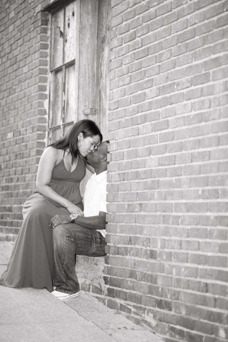 Maria and Jabar Downtown Winston Salem Engagement Photography-107