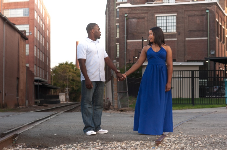 Maria and Jabar Downtown Winston Salem Engagement Photography-109