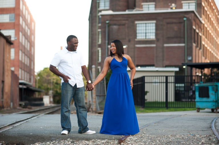 Maria and Jabar Downtown Winston Salem Engagement Photography-110