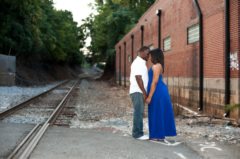 Maria and Jabar Downtown Winston Salem Engagement Photography-113