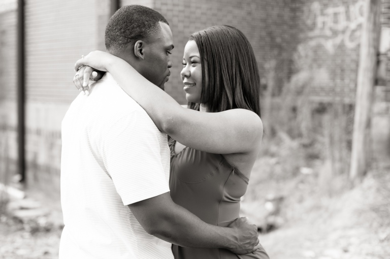 Maria and Jabar Downtown Winston Salem Engagement Photography-117