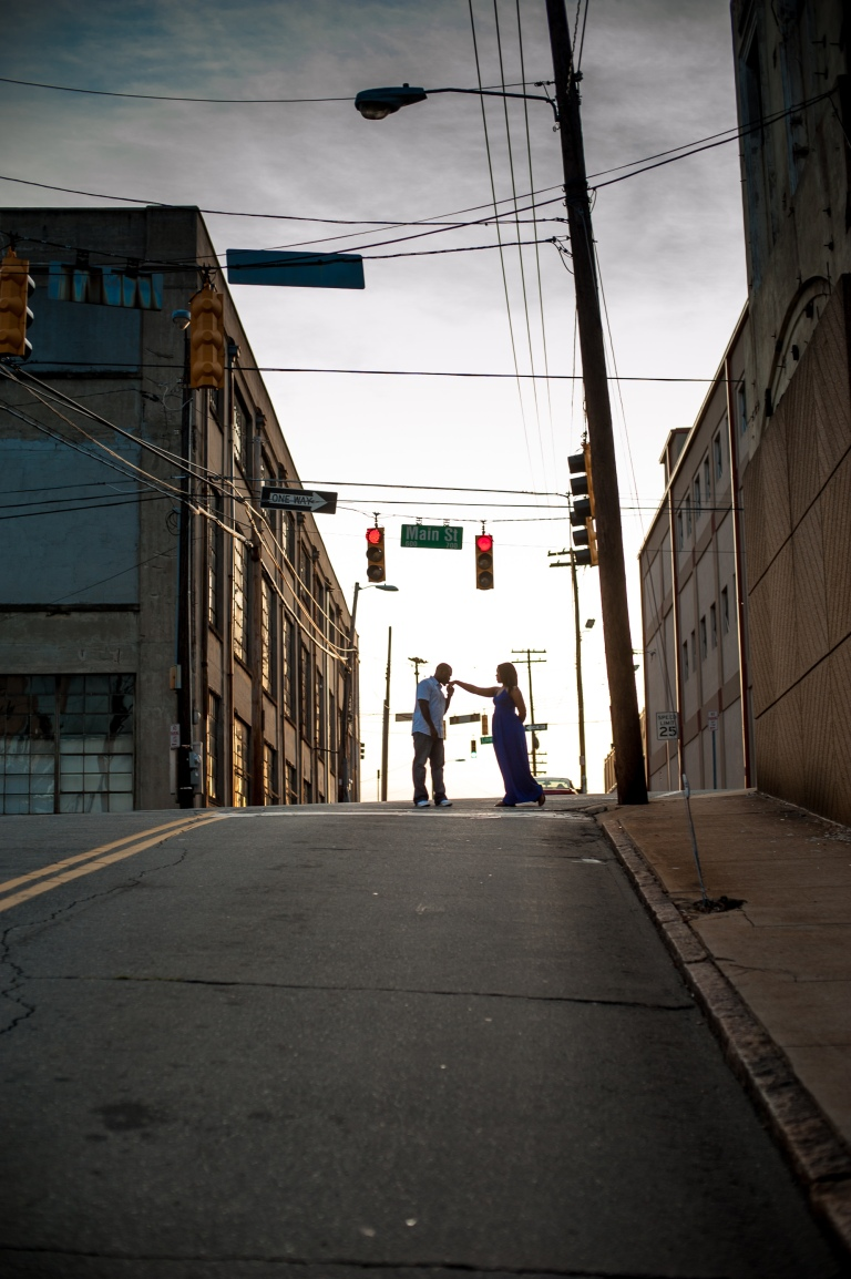 Maria and Jabar Downtown Winston Salem Engagement Photography-119
