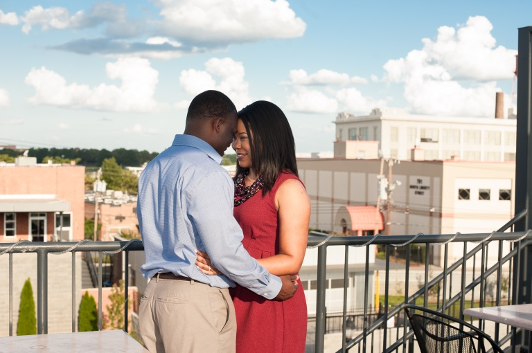 Maria and Jabar Downtown Winston Salem Engagement Photography-2