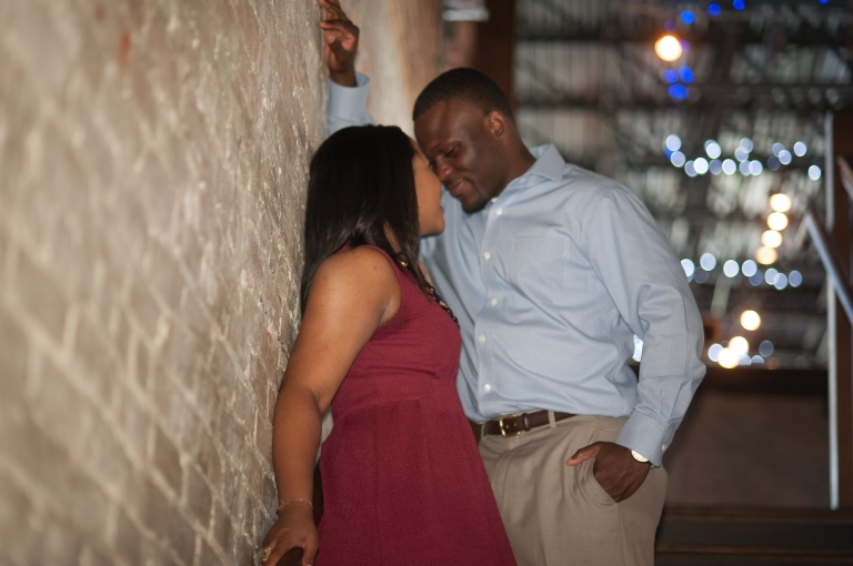 Maria and Jabar Downtown Winston Salem Engagement Photography-20