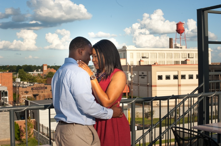 Maria and Jabar Downtown Winston Salem Engagement Photography-6