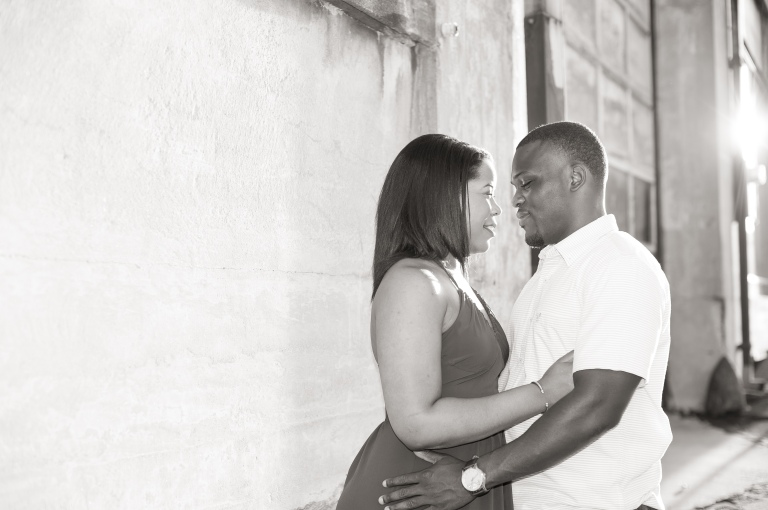 Maria and Jabar Downtown Winston Salem Engagement Photography-65