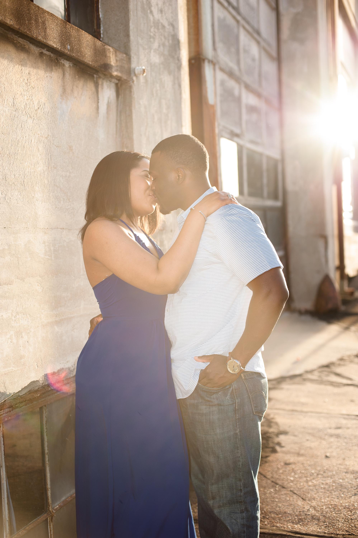 Maria and Jabar Downtown Winston Salem Engagement Photography-67
