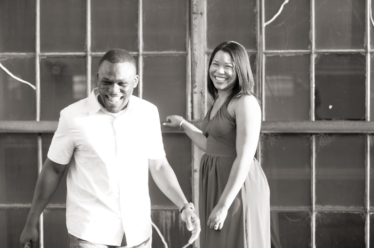 Maria and Jabar Downtown Winston Salem Engagement Photography-91
